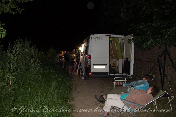 Chasse de nuit au marais de Stors