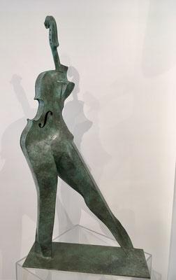 Femme Violon - Bronze
