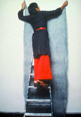 Paille de Fer, installation par Raymonde Arcier