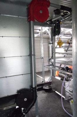 ...noch ein Blick auf die Futtermaschine im Technikraum...