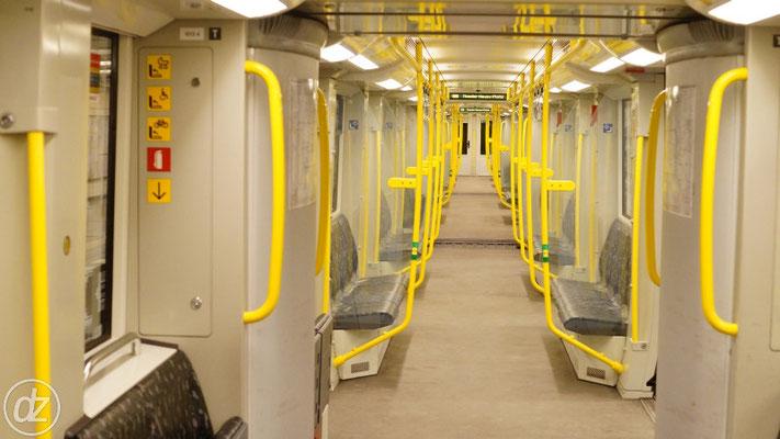 In dieser U-Bahn konnte man die Ansagen am Besten verstehen
