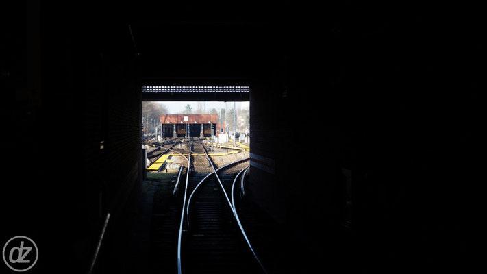 U-Bahnhof Ruhleben - Blick Richtung Lockschuppen