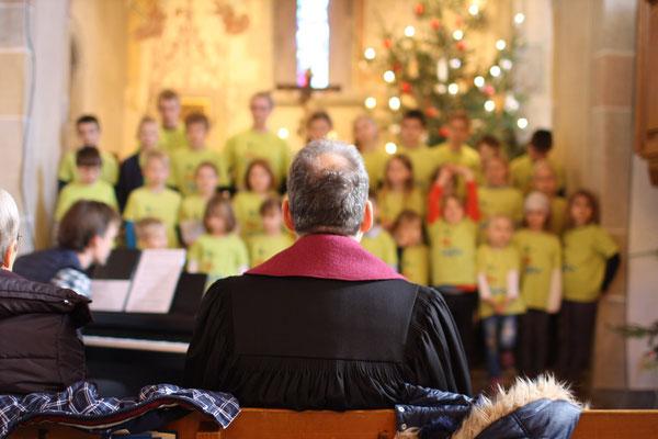 Auftritt am 26.12.2017 beim Gottesdienst in der Kilianskirche Oberaspach
