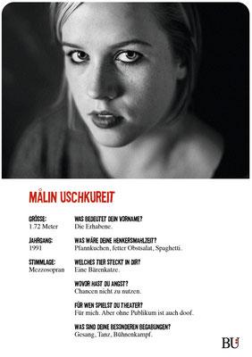 Malin Uschkureit - Scanlon Kuckucksnest Hamburg 2016 Theater Orange