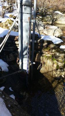 Echelle de l'Artigue à 35 cm - Avis aux amateurs de canyons en eau froide .
