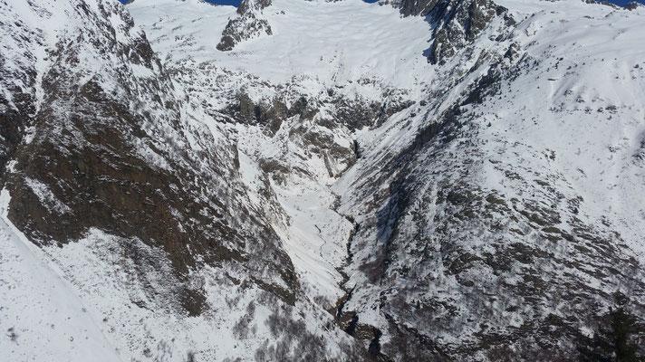 Vue du haut du canyon de l'Artigue.