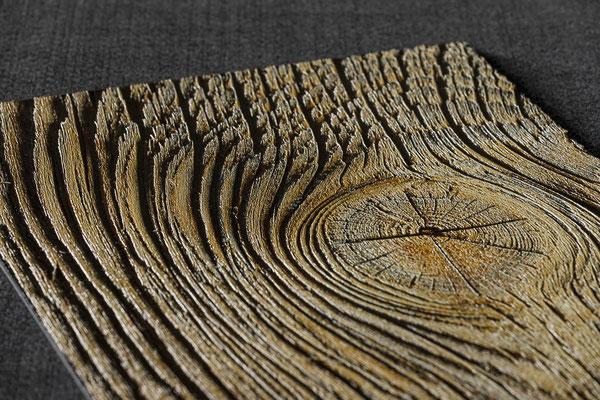 fühlbare Holzstruktur