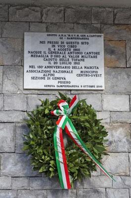 Lapide del Generale Antonio Cantore - Stazione ferroviaria - Via di Francia