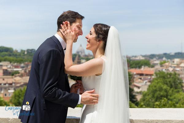 Fotografie degli sposi: giardino degli aranci, Roma