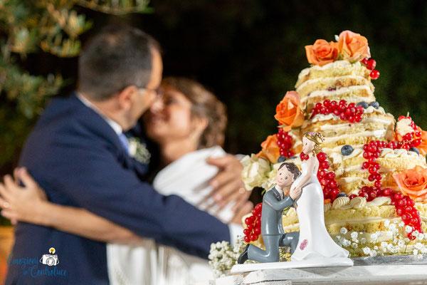 Claudio e Annamaria - il taglio della torta