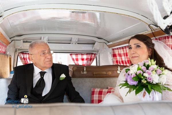 La sposa ed il suo papà