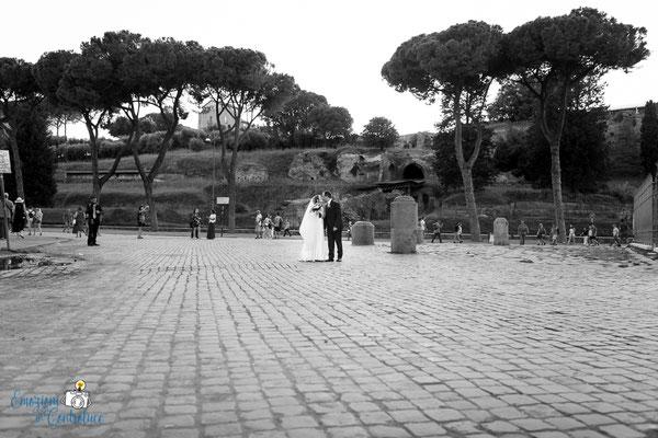 Claudio e Annamaria - gli sposi bw