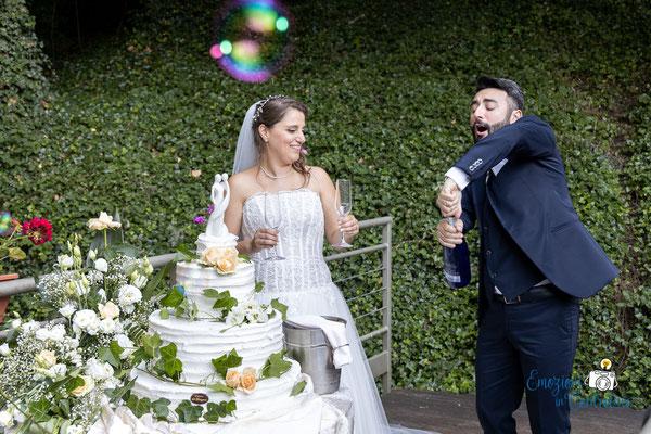 Danilo ed Erica: il brindisi con gli sposi