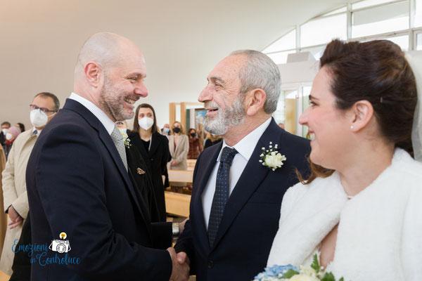 l'arrivo della sposa in chiesa