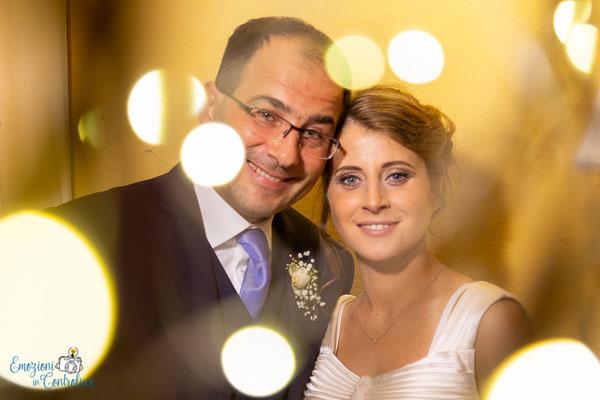 Claudio e Annamaria - durante il ricevimento: fotografie con gli sposi