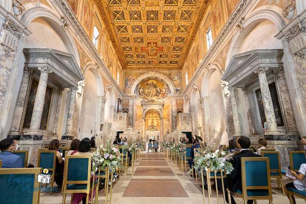 la chiesa durante il matrimonio: San Cesareo in Palatio a Roma