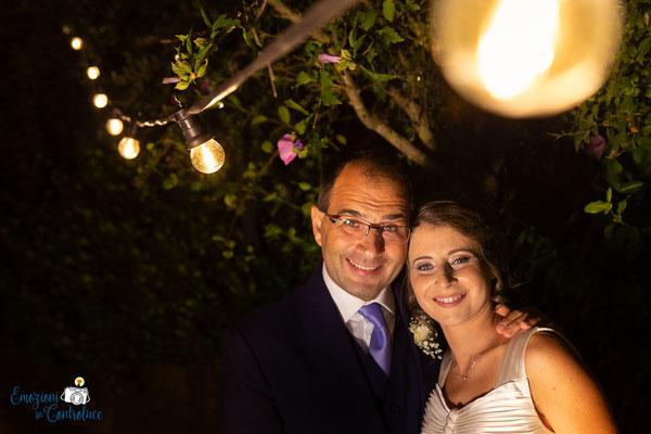 Claudio e Annamaria - la coppia di sposi durante il ricevimento