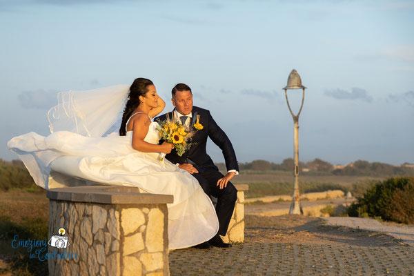 Fotografie di matrimonio sul lungomare
