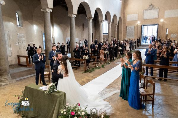 Celebrazione del matrimonio a San Giorgio in Velabro a Roma