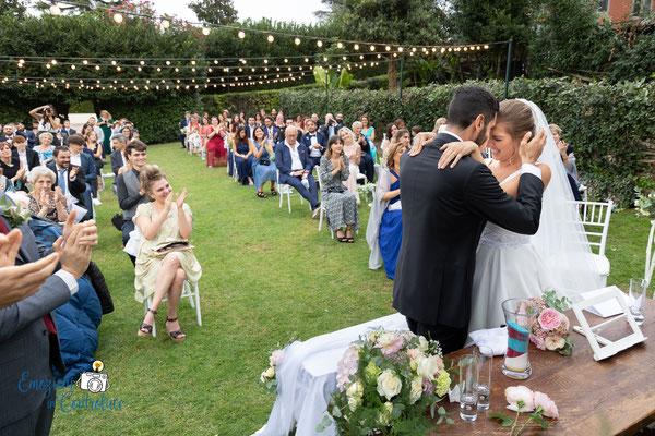 la celebrazione del matrimonio: attimi di commozione - Casali Margherita a Roma