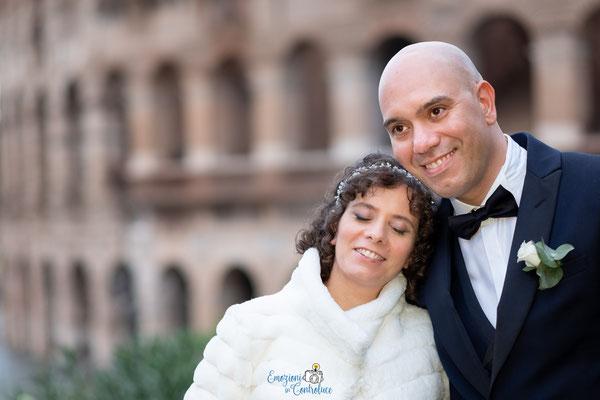 Le fotografie dopo il matrimonio: colosseo