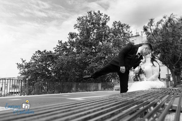 Gli sposi dopo il matrimonio: la terrazza di Frascati