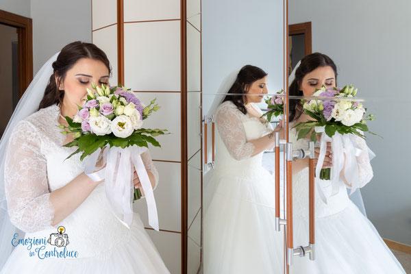 La sposa è pronta per il matrimonio