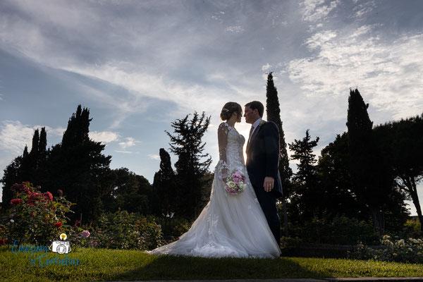 Luigi e Costanza: servizio fotografico al roseto comunale, Roma
