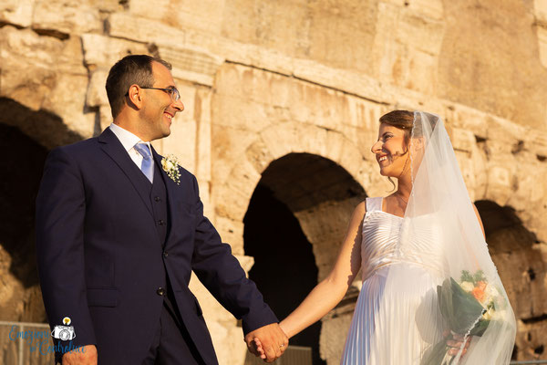 Claudio e Annamaria - gli sposi al colosseo, Roma