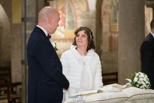 Il momento del rito del matrimonio