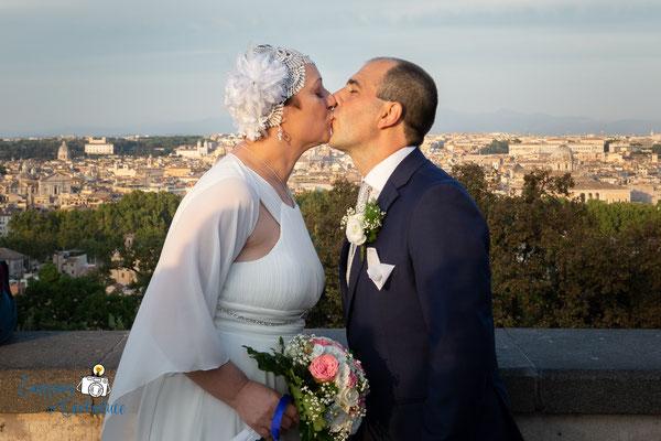 Fotografie dopo il matrimonio al Gianicolo, Roma