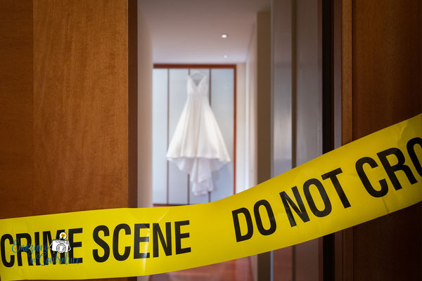 """""""la scena del crimine"""" a casa della sposa"""