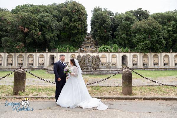 Gli sposi alla Fontana del Mascherone - Frascati