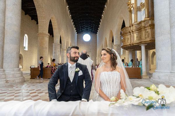 Danilo ed Erica: gli sposi nella Basilica di Santa Maria di Collemaggio