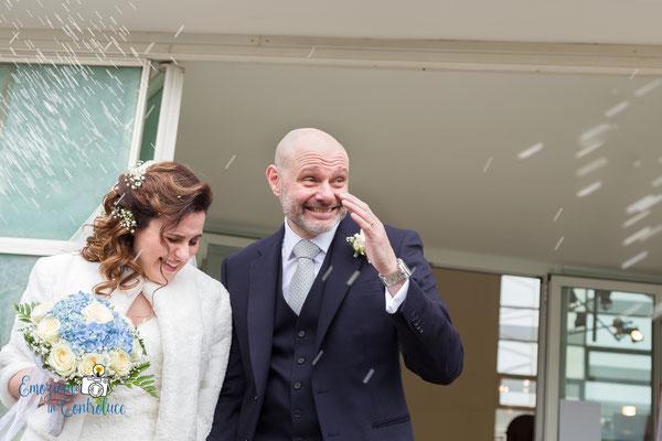 gli sposi dopo il matrimonio