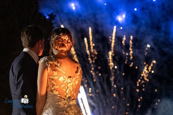 I fuochi d'artificio degli sposi, dopo il ricevimento
