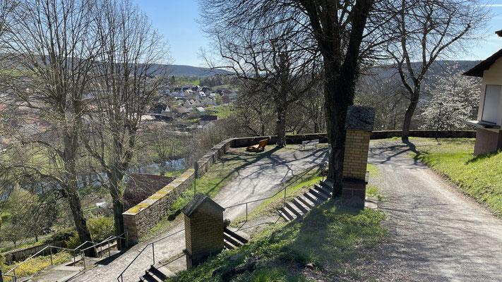 Ort: unterhalb der Klosterkirche, an der hohen Mauer