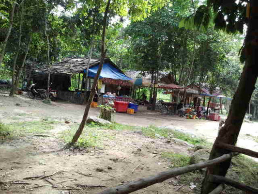 ...Dschungelkneipe mit einheimischen Leckereien...