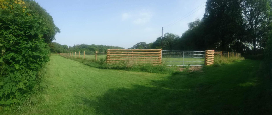 Big paddock after completion of work to create our new off lead exercise area