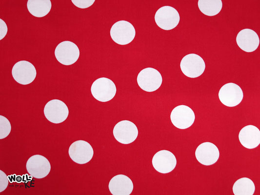 Dots 2,5 cm rot
