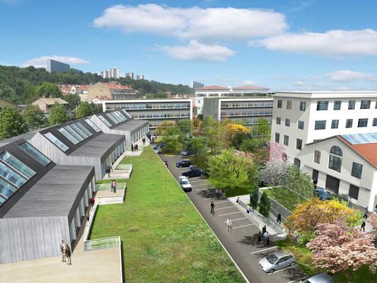 Optimum ACE implanté sur Greenopolis - Immeubles de bureau Lyon 9ème