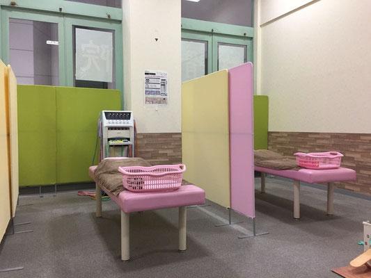 柏市モラージュ柏のみうら整骨院の店内の写真です。