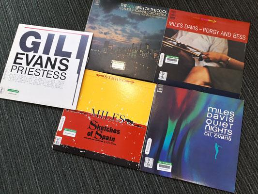 ギル・エバンスのアレンジしたジャズ・オーケストラのレコード