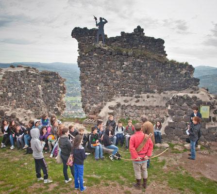 La visite du Château de Calmont d'Olt