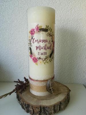 Nr. 3, Hochzeitskerze mit Druck, 53€