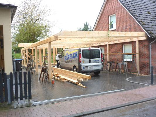 """Carport mit Holzkonstruktion, """"Stade - Campe"""" (1) - Foto: KÄPPLER BauTischlerei"""