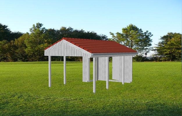 "Carport mit Holzkonstruktion, ""Stade - 2"" (1) - Foto: KÄPPLER BauTischlerei"