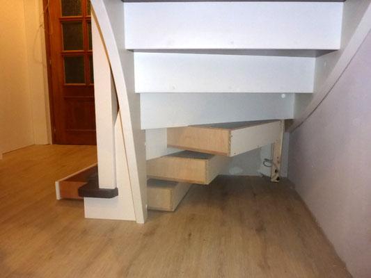 """Sondermöbel """"Treppen-Schubläden Himmelpforten"""" - Foto (4): KÄPPLER BauTischlerei"""