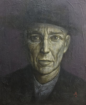 ボルサリーノ Borsalino  Oil on canvas 410x318mm 2001