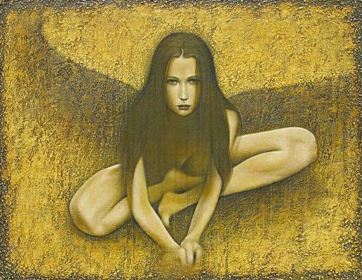 心の翼 Wings of the Heart  Oil on canvas 893x1178mm 2008